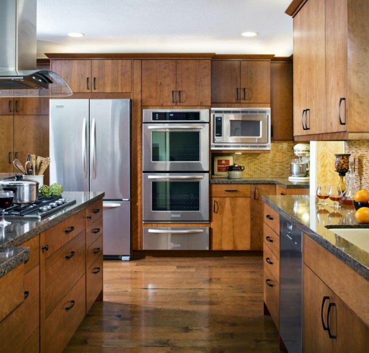 gabinetes de madera de roble