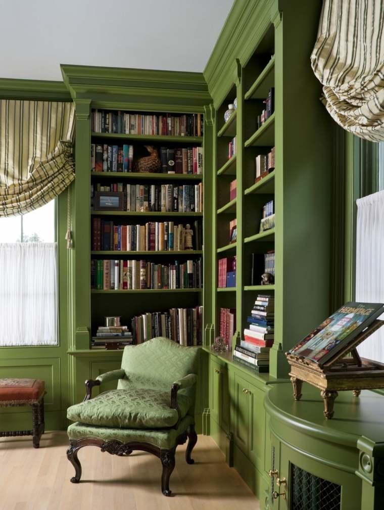 muebles-colores-atrevidos-sala-estar-ideas-estanteria-verde
