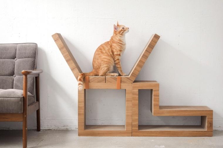 muebles de madera-gatos-juguetones