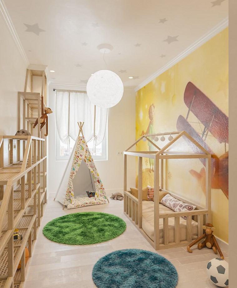 muebles-madera-bello-habitacion-nino-pequena