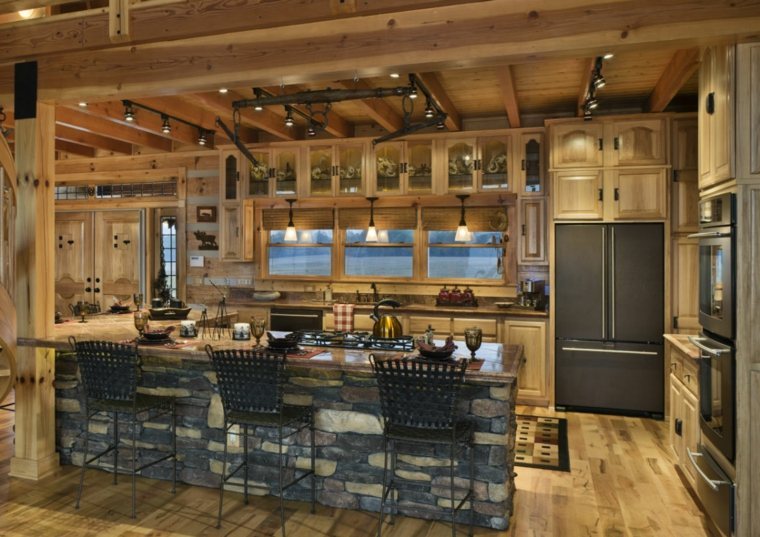 Cocinas de madera de arce