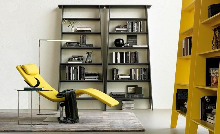 muebles minimalistas-libros-salones