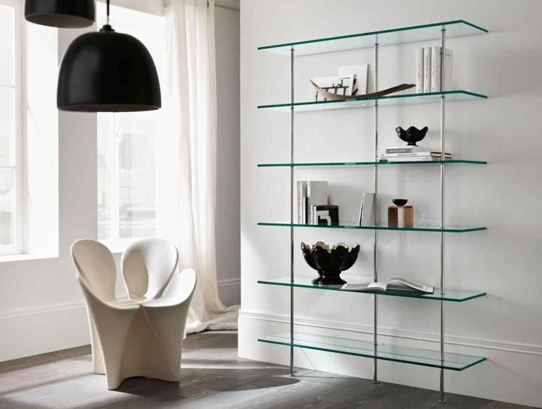 muebles modernos-libros-interiores