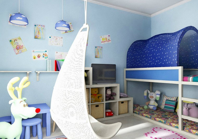 muebles-paredes-color-azul-claro-estilo-moderno