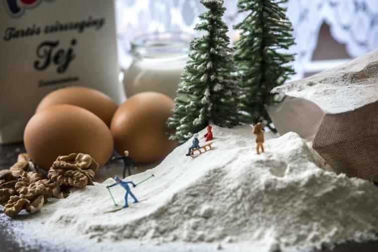escenas divertidas con figuras minúsculas