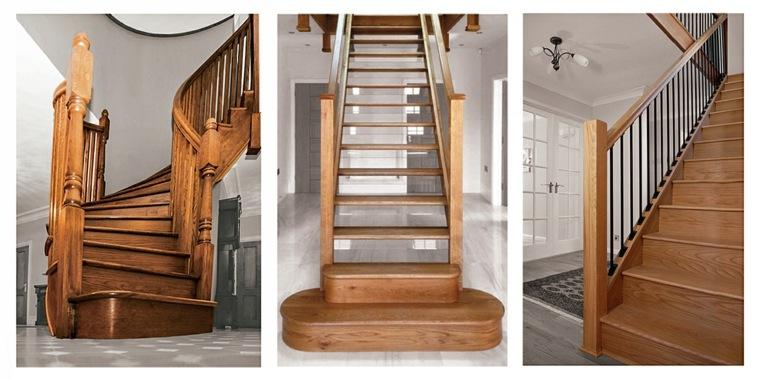 escaleras de interior de madera