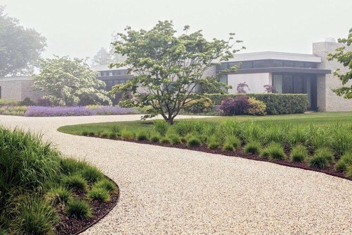 minimalismo paisaje camino grava patio