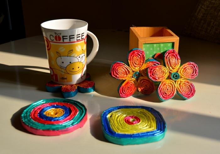 papel-reciclado-portavasos-coloridos