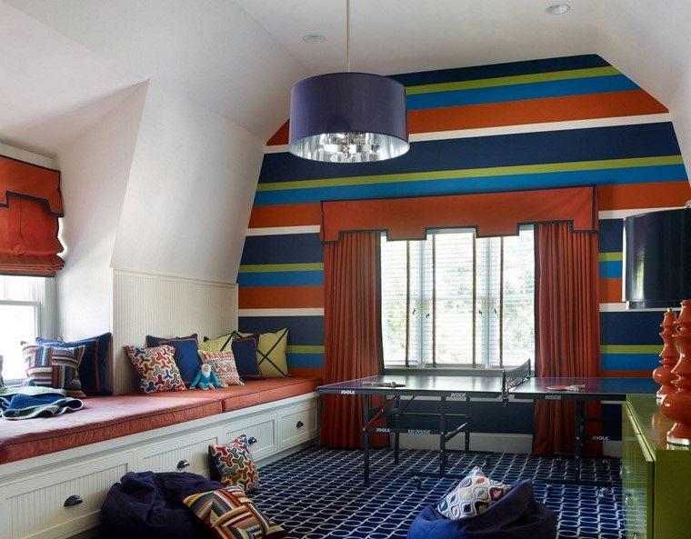 pared-rayas-habitacion-nino-estilo-moderno