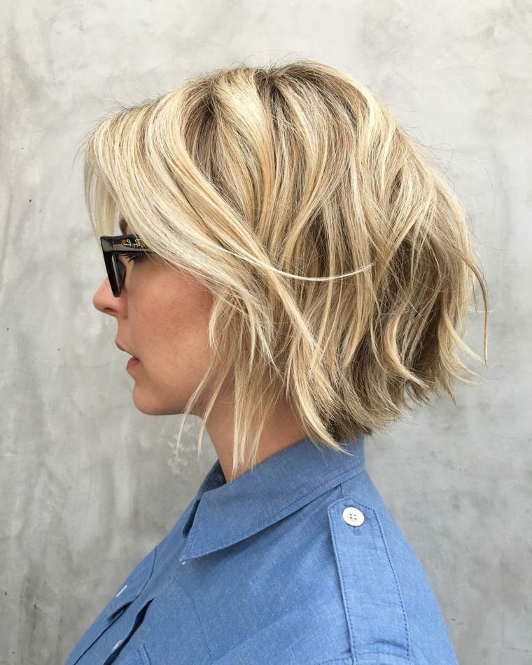 Peinados media melena cortes de pelo bob y shag - Peinados media melena recta ...