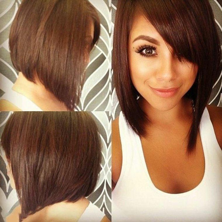 peinados media melena-flequillo-asimetrico