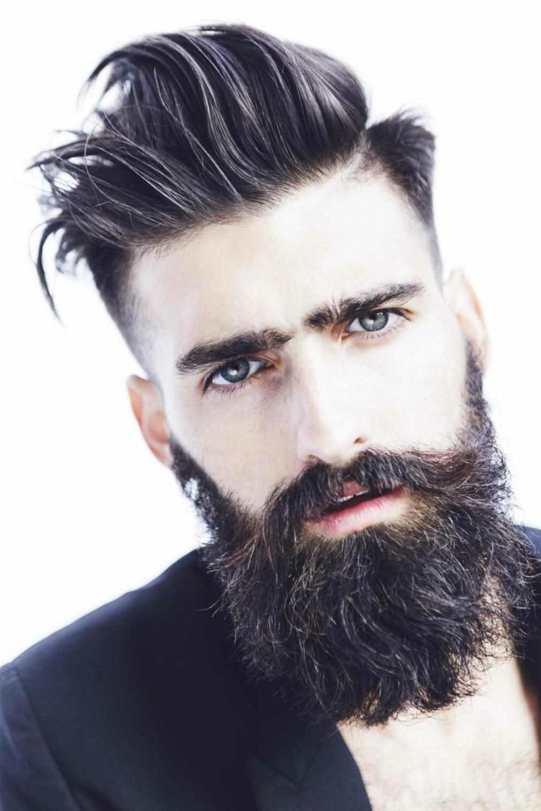 peinados modernos para hombres-barba-hipster