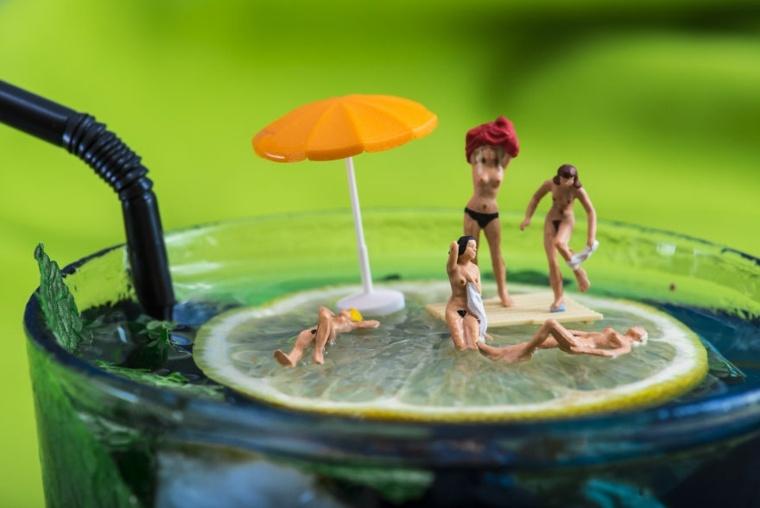 piscina en un vaso