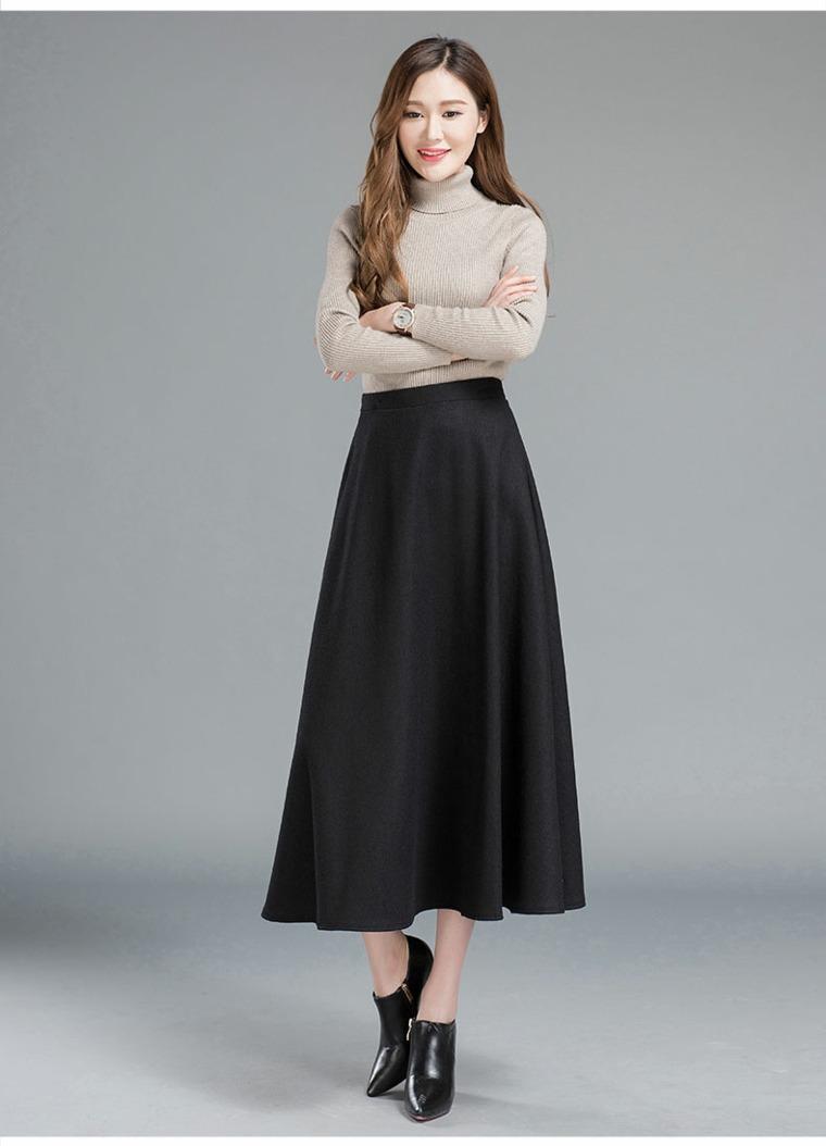 posiciones para fotos-faldas-largas