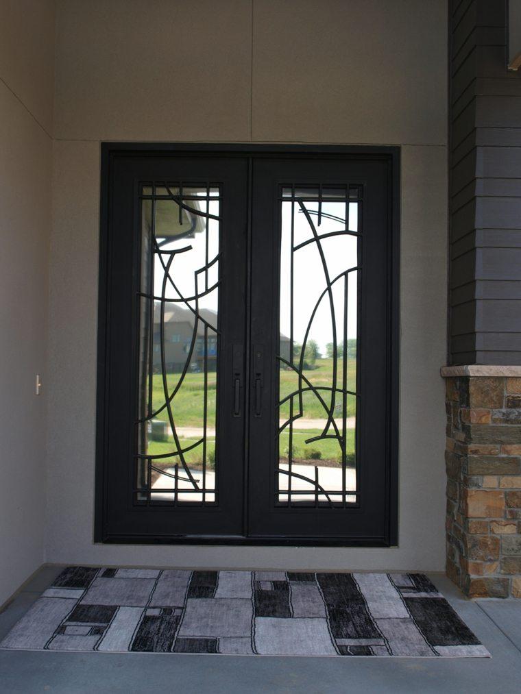Puerta de hierro moderna dise os modernos con hierro for Puertas de entrada de casas modernas