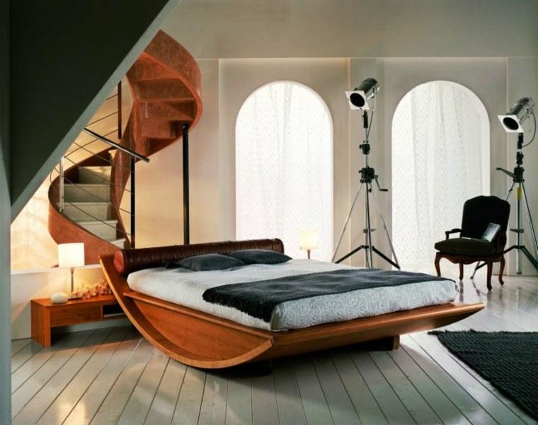 recamaras modernas-cama-madera