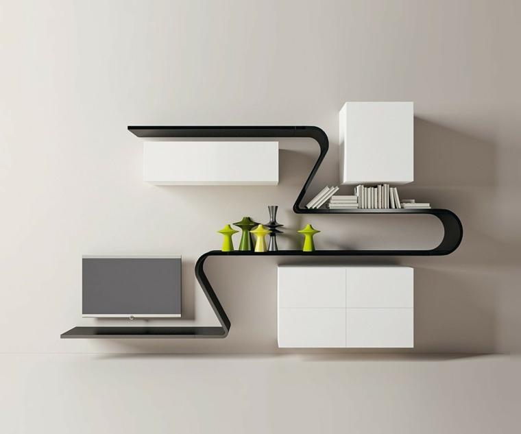 Repisas flotantes modernas para unos salones elegantes - 3b79b39b4983
