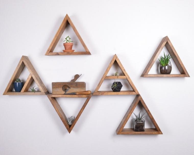 repisas flotantes-madera-triangulos