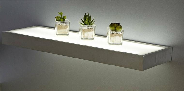 View in gallery repisas flotantes-paredes-luz-led Repisas flotantes  modernas para unos salones elegantes  065de51c68d2