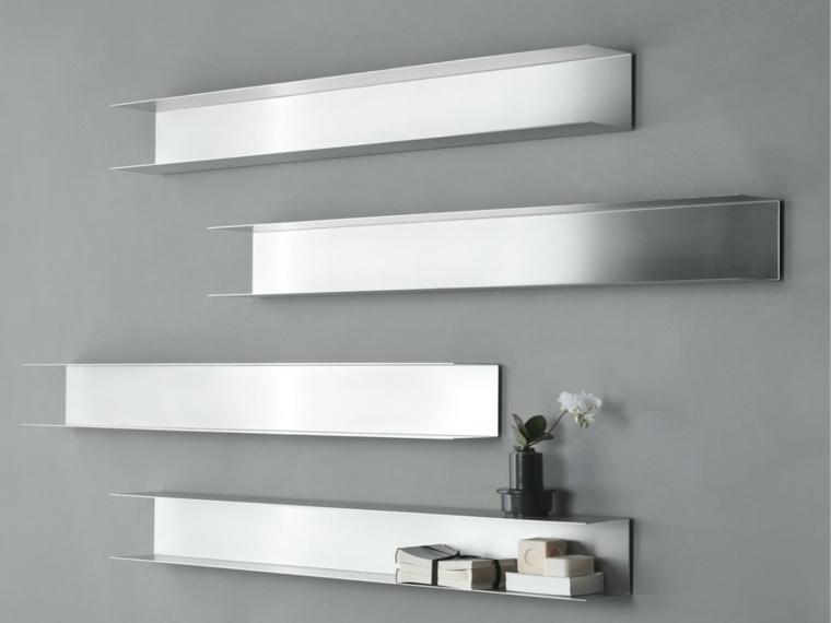 repisas modernas-metal-decorar-paredes