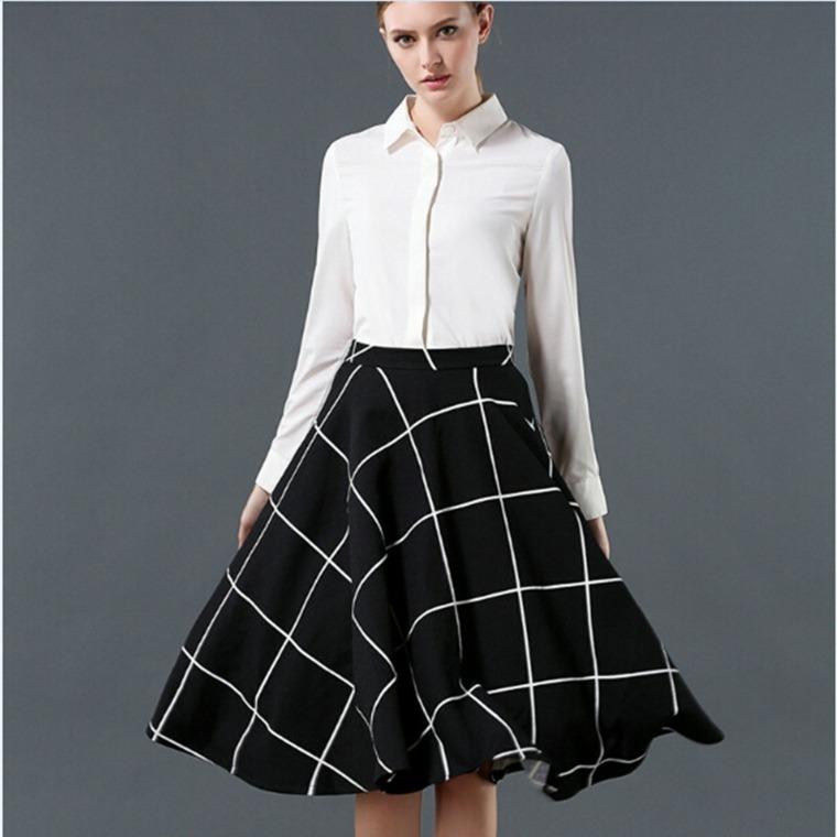 ropa de mujer de moda-cuadros