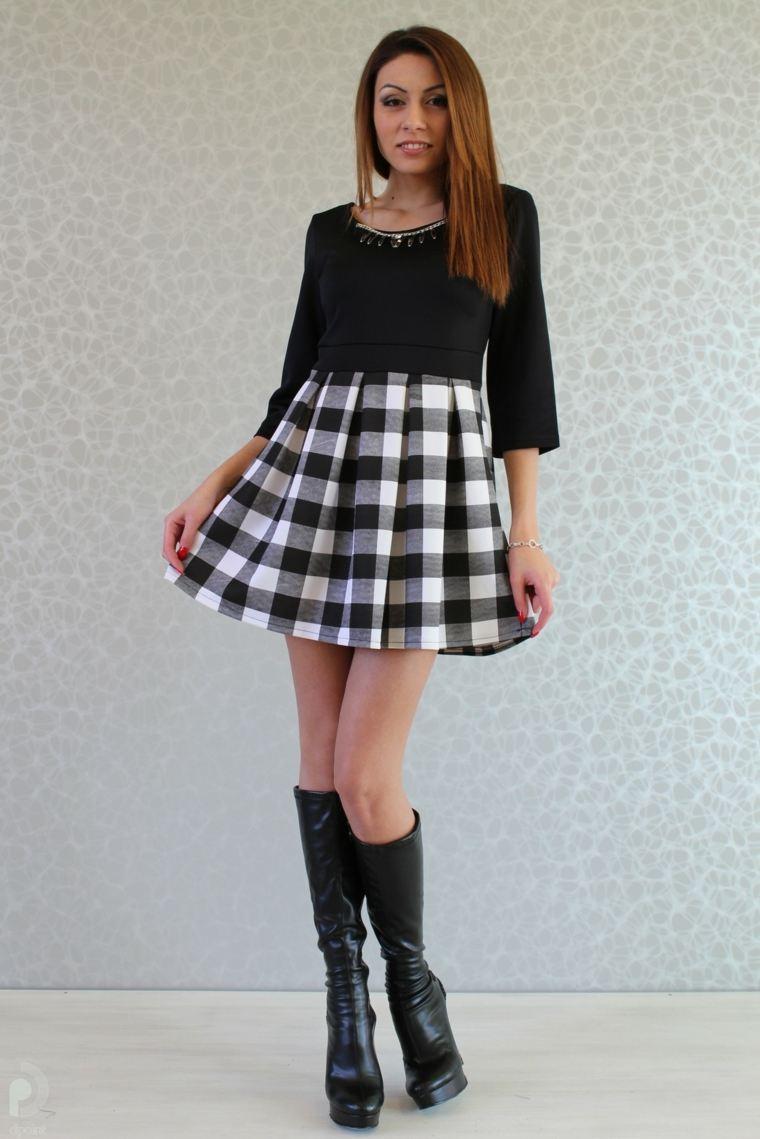 ropa de mujer-vestido-cuadrados