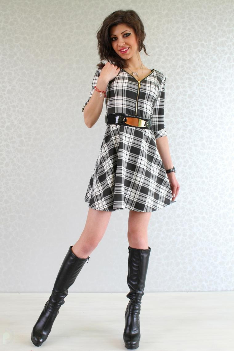 ropa de mujer-vestido-moderno-cuadrados