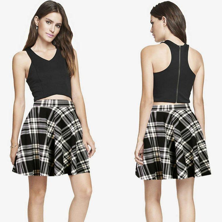 ropa de senora-falda-cuadros