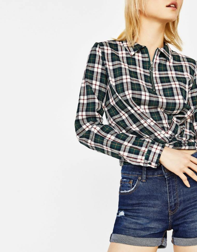 ropa senora-camisa-cuadros