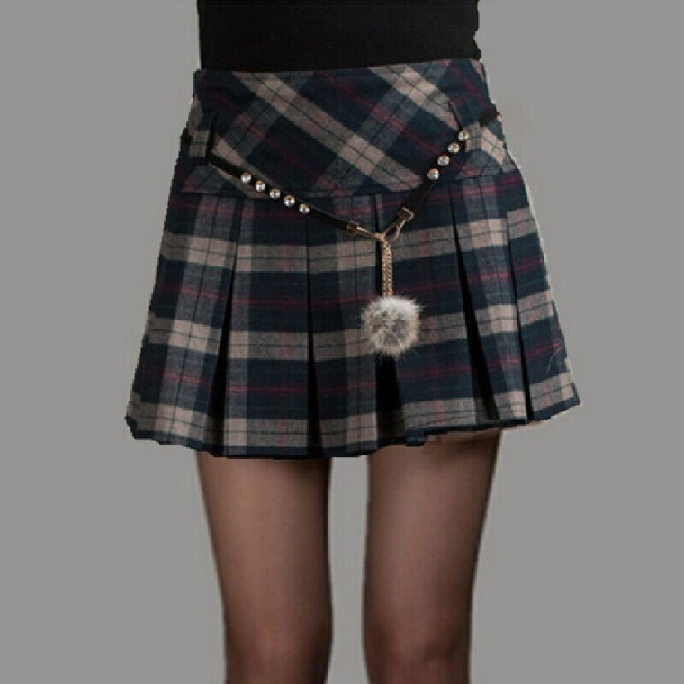 ropa senora-faldas-cortas-cuadros