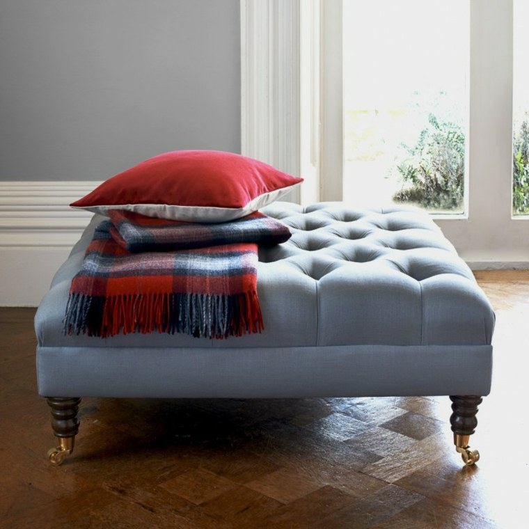 Muebles bonitos - otomanas de gran tamaño para diferentes estilos