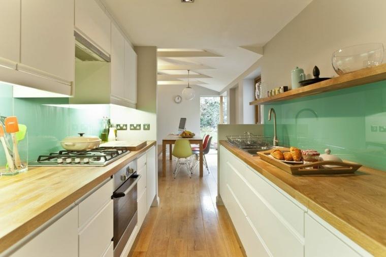 cocinas alargadas modernas