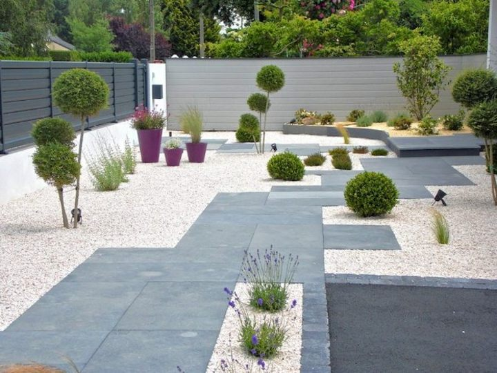 minimalismo senderos patios modenos ideas