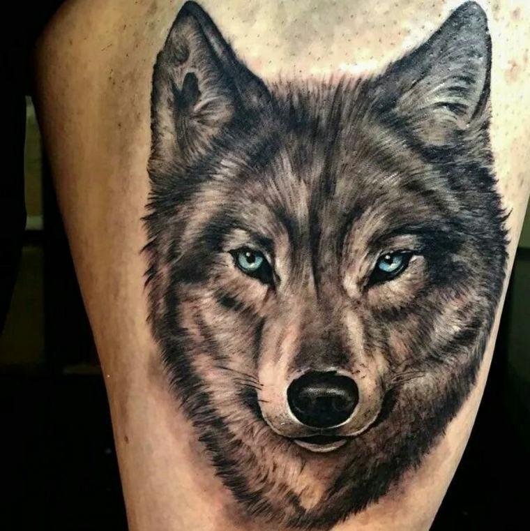significado tatuaje lobo-grande-brazo-pierna