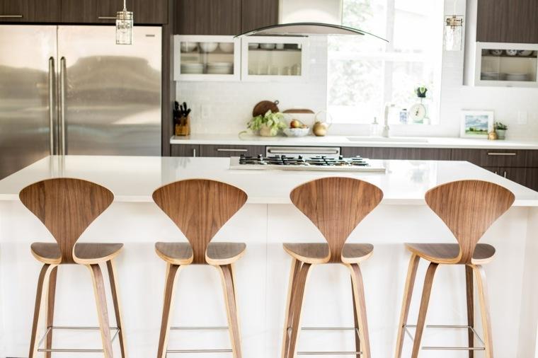 Taburete de cocina descubre los dise os y las tendencias - Taburete cocina madera ...