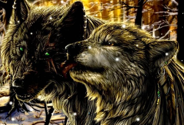 tatuajes de lobos realistas-significado