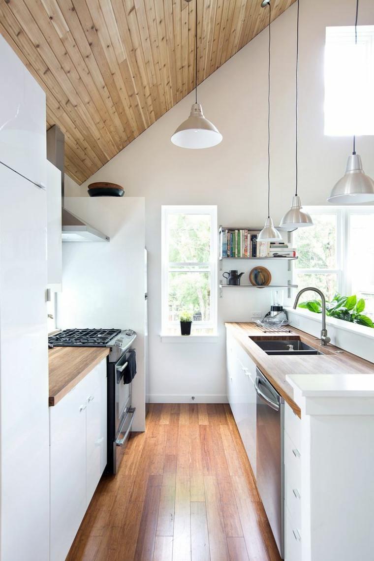 ideas de diseño de cocinas alargadas