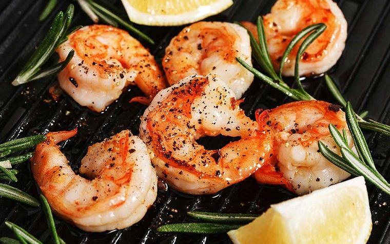 tipos de comida marina concepto