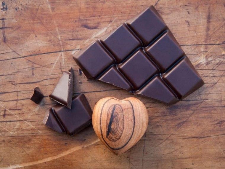 tipos de comida oscuro chocolate