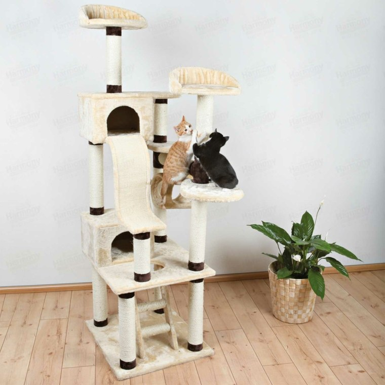 torre para gatos-caseros-rascador