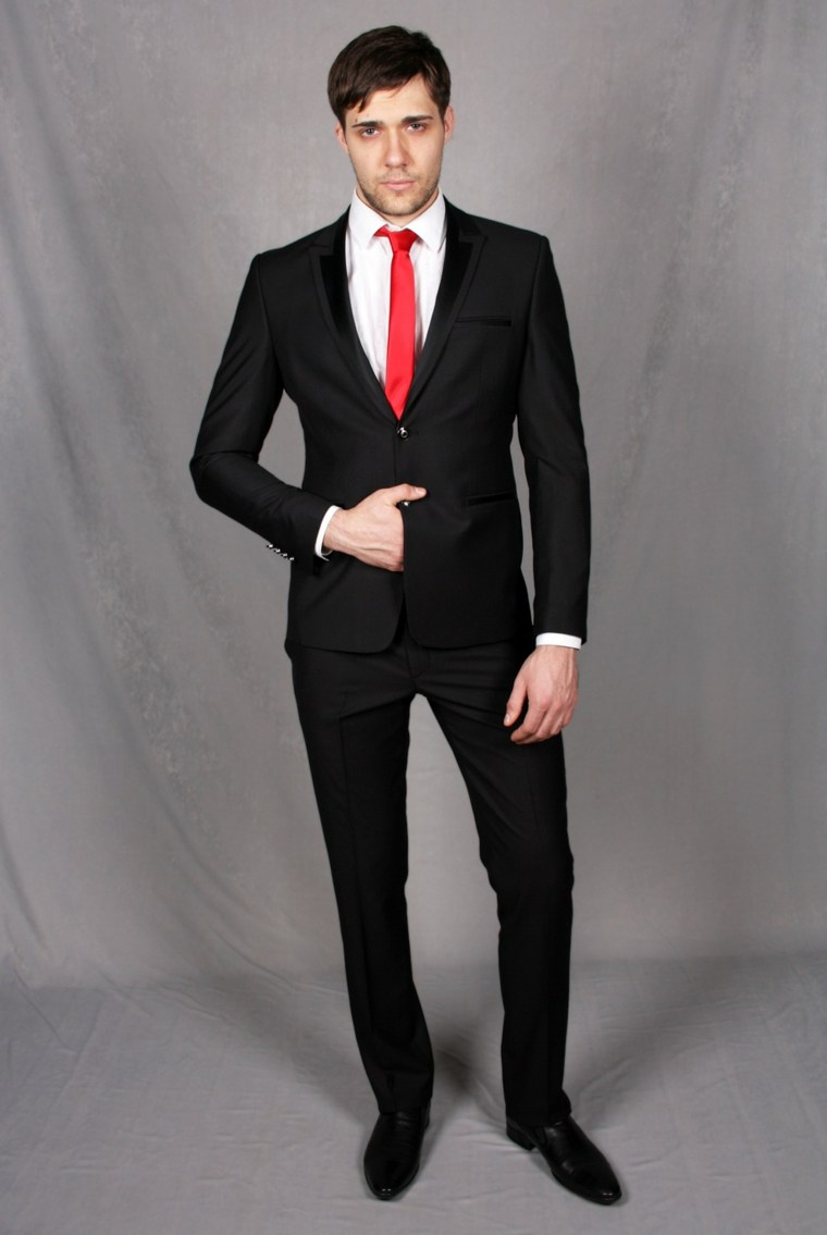 trajes-de-novio-corbata-roja-estilo