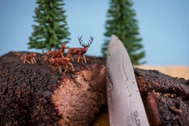 cortar la carne