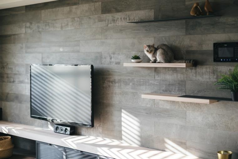 un gato como decoracion