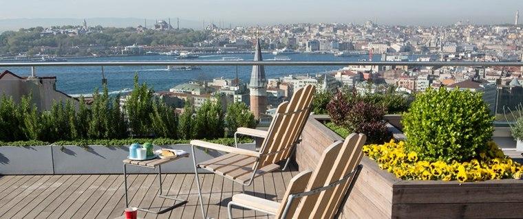 terraza en azotea con vistas