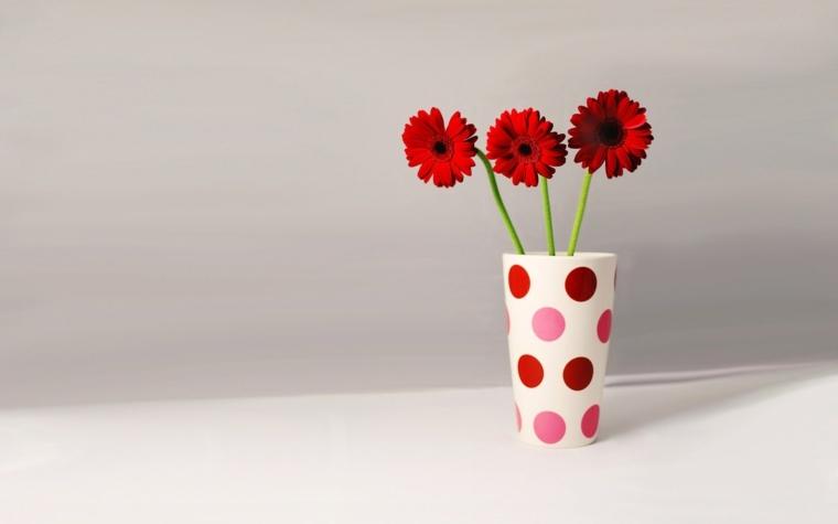 adornos florales-jarrones-decorados-puntos