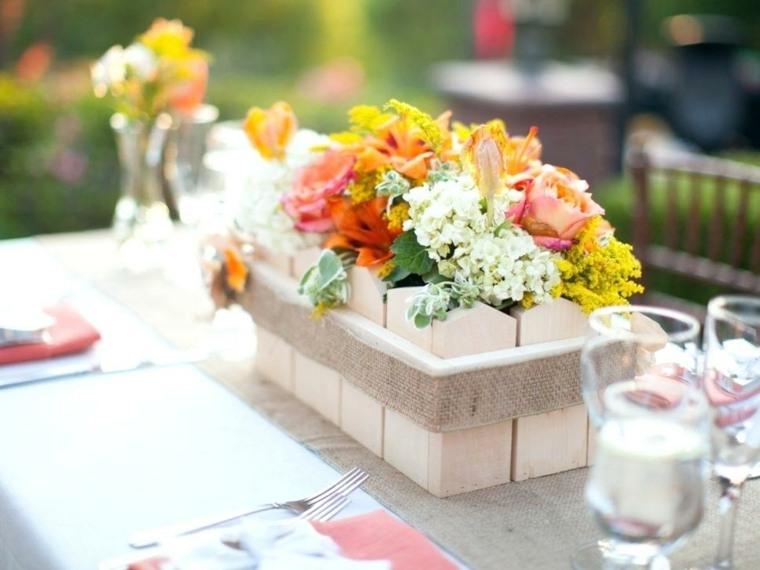 adornos florales-mesas-interiores-primavera