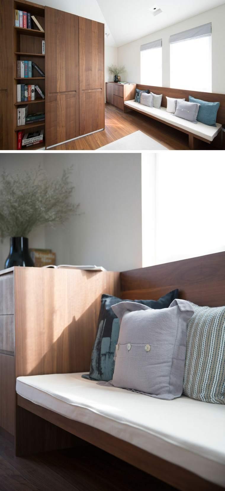 Dormitorio principal con una cabecera Walnut