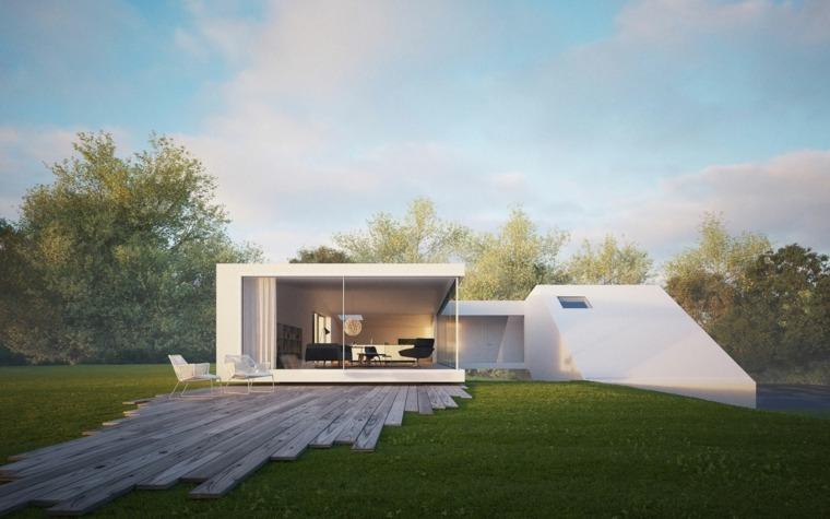 casas de una planta estilo minimalista