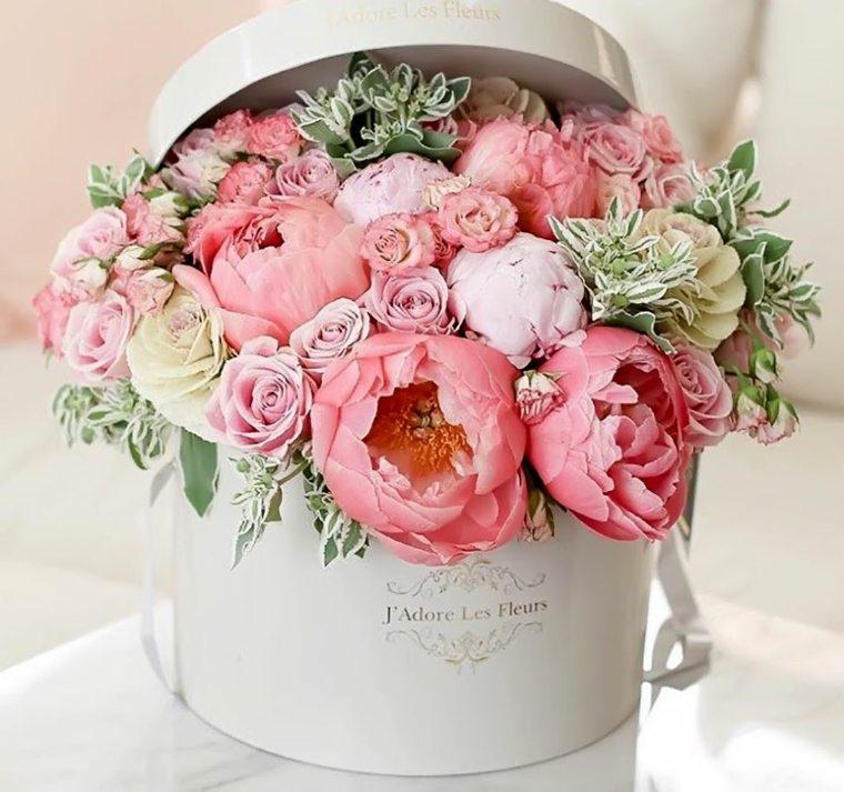 arreglos de flores para boda-caja