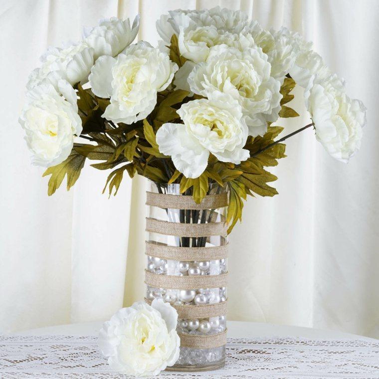 arreglos florales-blancos-decorar-bodas